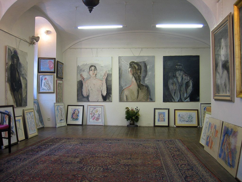 The Gallery On The Ground Floor Of The House U2013 Permanent Exhibition Of  Rastislav Michalu0027s Art