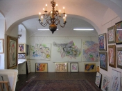 The gallery on the ground floor of the house – permanent exhibition of Rastislav Michal's art