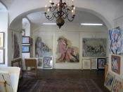 Galerie v přízemí domu – stálá expozice díla Rastislava Michala