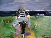 Únos, olej/plátno, 115×145 cm, 2004