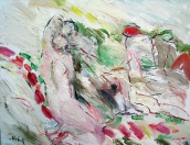 Milenci, olej/plátno, 115×145 cm, 2002