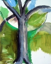 Strom, olej/plátno, 200×160 cm, 2003