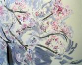 Sakura, olej/plátno, 160×200 cm, 2002