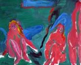 Koupání, olej/plátno, 160×200 cm, 2000