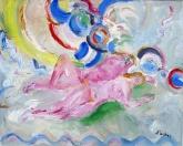 Slečny na břehu Seiny, olej/plátno, 170×210 cm, 2001