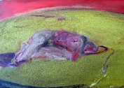 Akt v ateliéru, olej/plátno, 27×35 cm, 1984