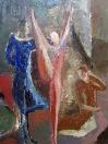 Akrobaté VI, olej/plátno, 76×63 cm, 1979