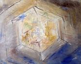 Nebeský Jeruzalém, olej/plátno, 45×55 cm, 2001