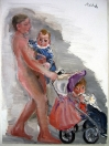 Na procházce, olej/plátno, 110×80 cm, 2007