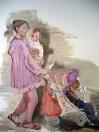 Na procházce, olej/plátno, 200×160 cm, 2007