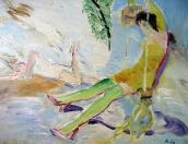 Houpačka, olej/plátno, 115×145 cm, 2004