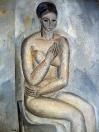 Ženský akt, olej/plátno, 120×90 cm, 1964-65