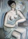Sedící žena, olej/plátno, 120×85 cm, 1963