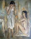 Toaleta, olej/plátno, 110×90 cm, 1965