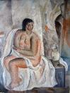 Malíř a model, olej/plátno, 140×105 cm, 1964