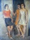 Tři ženy z Torina, olej/plátno, 120×90 cm, 1968