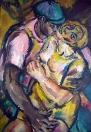 Z Pařížského cyklu: Černá láska, olej/papír, 108×75 cm, 1975