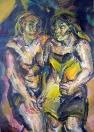 Z Pařížského cyklu: Au Pigalle, olej/papír, 108×75 cm, 1975