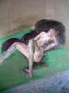 Ležící, olej/plátno, 130×97 cm, 1982