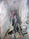 Muž v ateliéru, olej/plátno, 100×70 cm, 1995