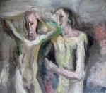 Nevěsta (Cyklus Z Páté čtvrti), olej/plátno, 95×116 cm, 1978