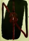 Vladimír Véla, Motanec II,  akryl  a sprej na papíře, 87 x 61 cm, 2010